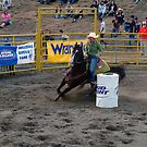 Barrel Racing at the Rodeo by Merilyn
