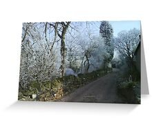 After the freezing fog Greeting Card