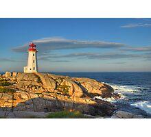 Peggy's Cove Lighthouse - Nova Scotia, Canada Photographic Print
