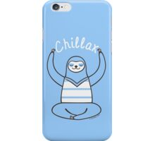 Minimalist Chillax Sloth  iPhone Case/Skin