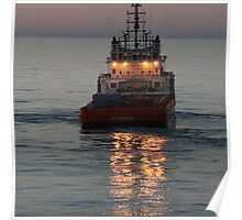 Rig Express, central north sea. Poster