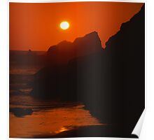 SeaSide SunSet on the SeaShore - photography Poster
