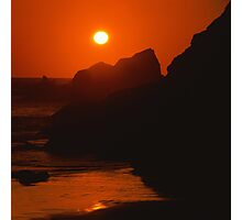 SeaSide SunSet on the SeaShore - photography Photographic Print