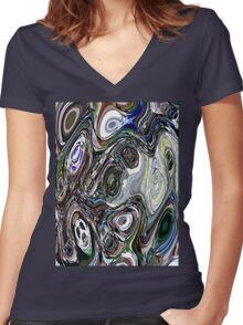 Delusional Delight Women's Fitted V-Neck T-Shirt