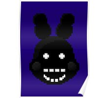 Five Nights at Freddy's 2 - Pixel art - Shadow Bonnie Poster