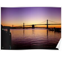 San Franisco  •  Oakland Bay Bridge Poster