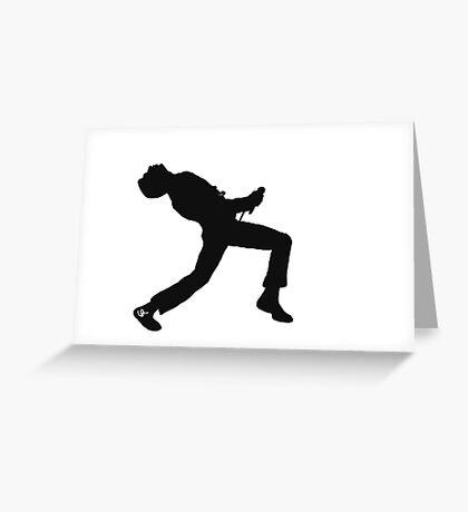 Freddie Mercury Silhouette  Greeting Card