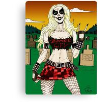 Horror Punk Zombie Girl Canvas Print