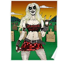 Horror Punk Zombie Girl Poster