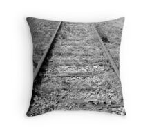 Historical Tracks Throw Pillow