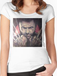 The wolverine Women's Fitted Scoop T-Shirt