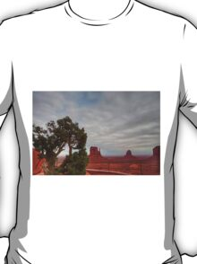 Monument Valley, Clouds, Juniper Tree T-Shirt