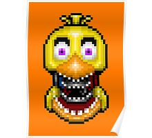 Five Nights at Freddy's 2 - Pixel art - Withered Old Chica Poster
