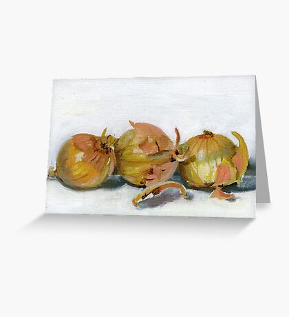 Three Onions Greeting Card