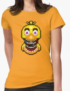 Five Nights at Freddy's 2 - Pixel art - Withered Old Chica Womens Fitted T-Shirt