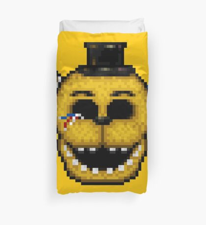 Five Nights at Freddy's 2 - Pixel art - Golden Freddy Duvet Cover