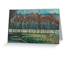 tree abstraction Greeting Card