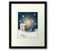 Card with champagne 4 Framed Print