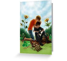 Then he walked back, where Will Solace was waiting Greeting Card
