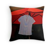 Display With Red Umbrella Throw Pillow