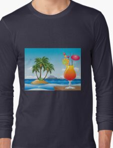 Cocktail on the beach Long Sleeve T-Shirt