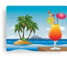 Cocktail on the beach Canvas Print