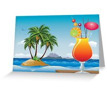 Cocktail on the beach Greeting Card