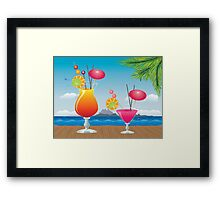 Cocktail on the beach 2 Framed Print