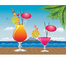 Cocktail on the beach 2 Photographic Print