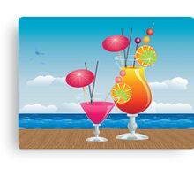 Cocktail on the beach 3 Canvas Print