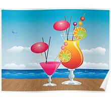 Cocktail on the beach 3 Poster