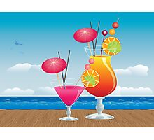 Cocktail on the beach 3 Photographic Print