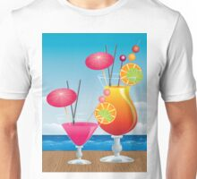 Cocktail on the beach 3 Unisex T-Shirt