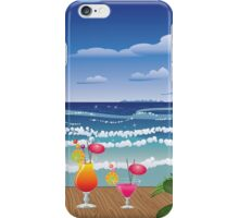 Cocktail on the beach 4 iPhone Case/Skin