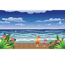 Cocktail on the beach 4 Photographic Print