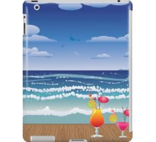 Cocktail on the beach 4 iPad Case/Skin