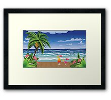 Cocktail on the beach 5 Framed Print