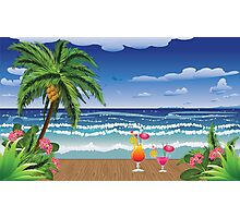 Cocktail on the beach 5 Photographic Print