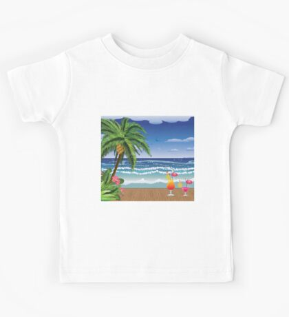 Cocktail on the beach 5 Kids Tee