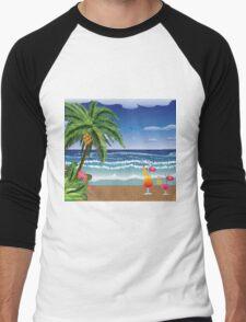 Cocktail on the beach 5 Men's Baseball ¾ T-Shirt