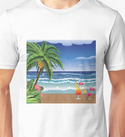 Cocktail on the beach 5 Unisex T-Shirt