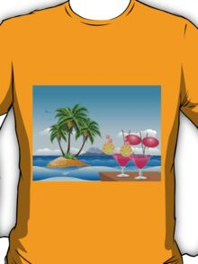 Cocktail on the beach 6 T-Shirt