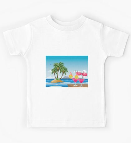 Cocktail on the beach 6 Kids Tee