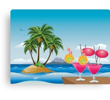 Cocktail on the beach 6 Canvas Print