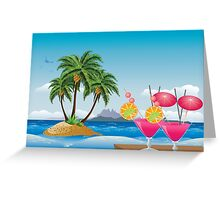 Cocktail on the beach 6 Greeting Card