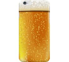 Beer glass with water drops iPhone Case/Skin