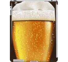 Beer glass with water drops iPad Case/Skin