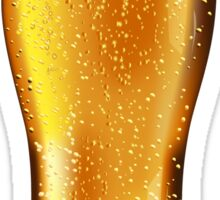 Beer glass with water drops Sticker