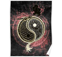 Yin and Yang Graphic Poster