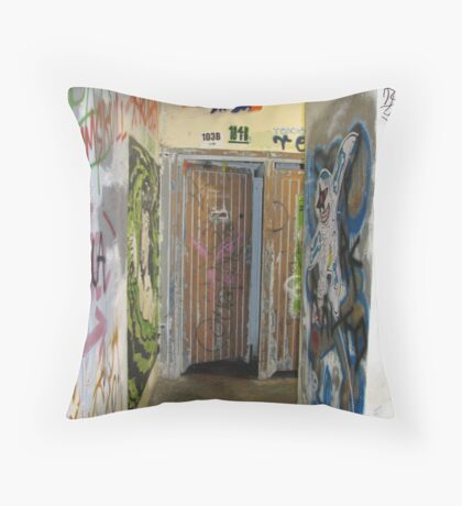 Down the Corridor, on the Way to My Place Throw Pillow